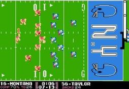 Tecmo Bowl: crunch time for Joe Montana